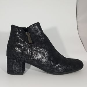 The Flexx Black Antracite Leather Ankle Boot